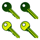 Green house keys Royalty Free Stock Photos