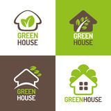 Green House Logo Stock Photos