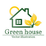 Green house logo. Eco house. Vector. Stock Photography