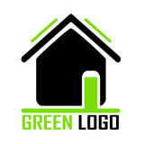 Green house logo Royalty Free Stock Photography