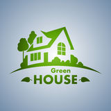 Green House. Logo in vector Royalty Free Stock Photo