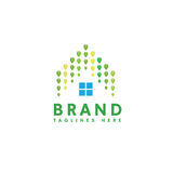 Green house logo vector Royalty Free Stock Image
