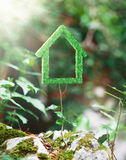 Green house made with grass, ecology Stock Photography