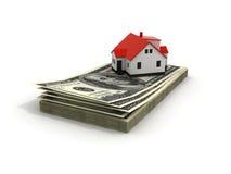 Green House Mortgage dollar Stock Photos