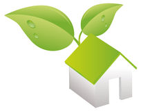 Green house nature ecology. Vector Illustration Royalty Free Stock Photography