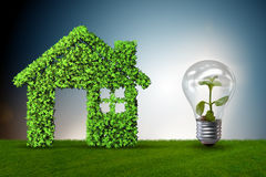 The green house power concept - 3d rendering. Green house power concept - 3d rendering Stock Photos