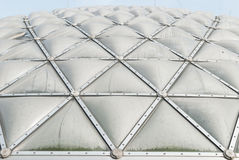 Green house roof. Geometry shape of building / green house roof Stock Image