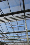 Green house roof. With open panels Royalty Free Stock Image