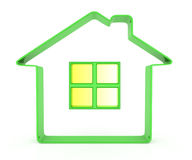 Green house shape Royalty Free Stock Image
