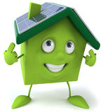 Green house with solar panels Royalty Free Stock Photos