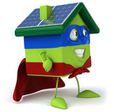 Green house with solar panels Stock Photography