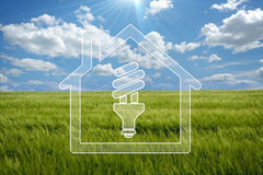 Green house. Sweet eco  background, enhance your work Stock Photo