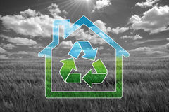 Green house. Sweet eco  background, enhance your work Royalty Free Stock Photo
