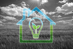Green house. Sweet eco  background, enhance your work Stock Photos