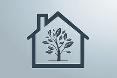 Green house. Sweet eco  background, enhance your work Royalty Free Stock Photography