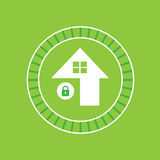Green house symbol Royalty Free Stock Photography