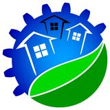 Green house technology. Isolated illustrated logo design Royalty Free Stock Photo