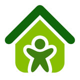 Green House Vector. Illustration symbol Stock Image