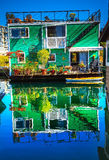 Green Houseboat Victoria Canada Royalty Free Stock Photography