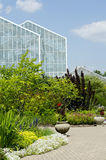 Green houses and gardens Stock Photography