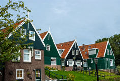 Green houses of Marken, Netherlands Stock Photography