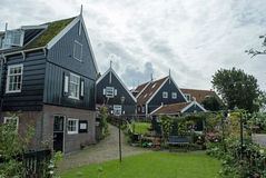 Green houses of Marken, Netherlands Royalty Free Stock Photos