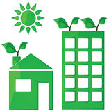 Green housing Royalty Free Stock Photography