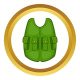 Green hunter vest vector icon Stock Photography