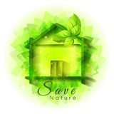Green hut for Save Nature. Stock Images