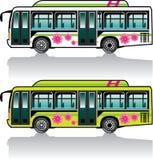 Green Hybrid Bus vector Royalty Free Stock Photo