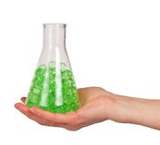 Green hydrogel in a bulb Royalty Free Stock Photos