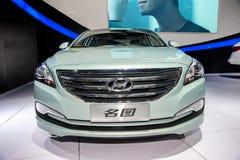 Green hyundai mistra car Stock Images