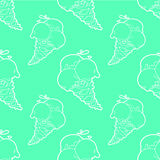 Green ice-cream seamless pattern Royalty Free Stock Photography