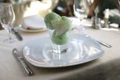 Green ice cream Royalty Free Stock Image