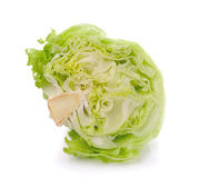 Green Iceberg lettuce on White Background Royalty Free Stock Images