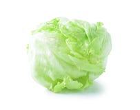 Green Iceberg lettuce on White Background Royalty Free Stock Photo