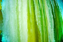 Green Icicles Background Stock Image