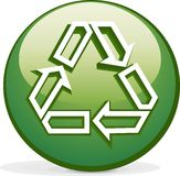 Green icon. Vector scene of the icon on conversion Royalty Free Stock Photo