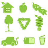Green icon Stock Image