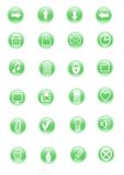 Green icon Stock Images