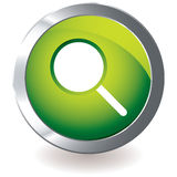 Green icon magnifying Royalty Free Stock Images