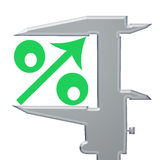 Green icon percent up Stock Images