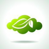 Green Icon save environment concept Royalty Free Stock Photography