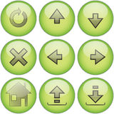 Green icon set �2 Royalty Free Stock Photos