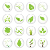 Green icon set. Great idea of environmentally friendly concept icons for your website, powerpoint, leaflet etc Stock Images