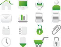 Green Icon set Royalty Free Stock Photos