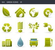 Green Icons _01 Royalty Free Stock Photos