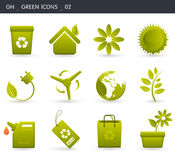 Green Icons _02 Stock Image