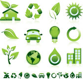 Green icons Stock Photo