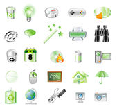Green icons Royalty Free Stock Photos